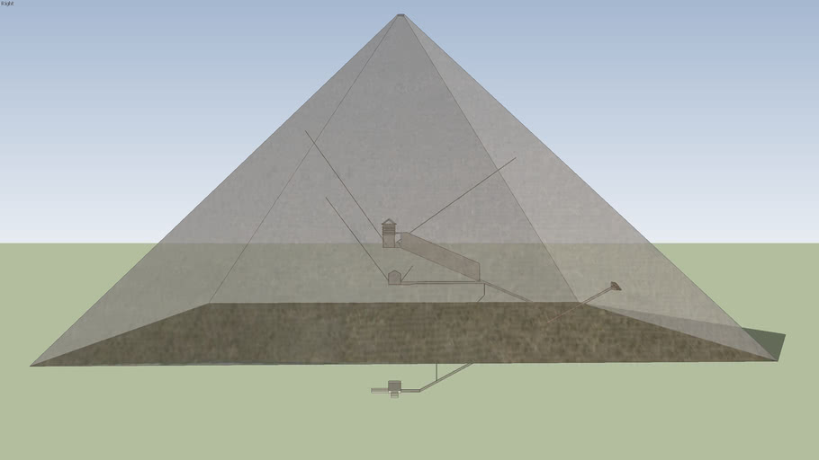 Great Pyramid of Giza with internal structures (to scale)