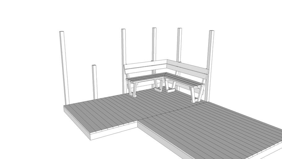 90 Degree Deck Bench