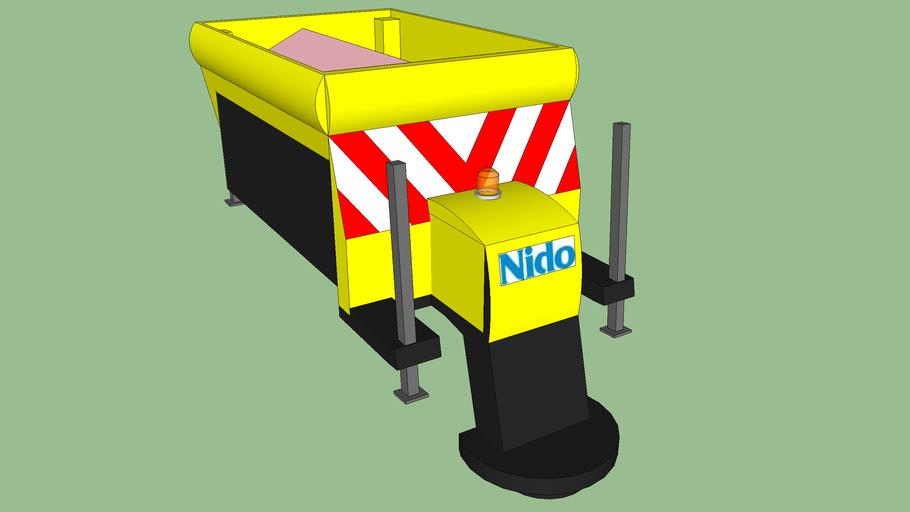 Zoutstrooier Nido 1' met zout