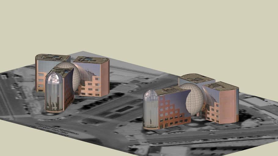 Edificios Esferas Gemelas Campode las naciones, MADRID