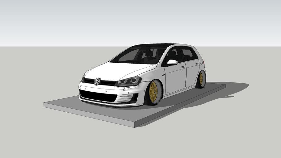 Vw Golf Gti Mk7 Stance 3d Warehouse