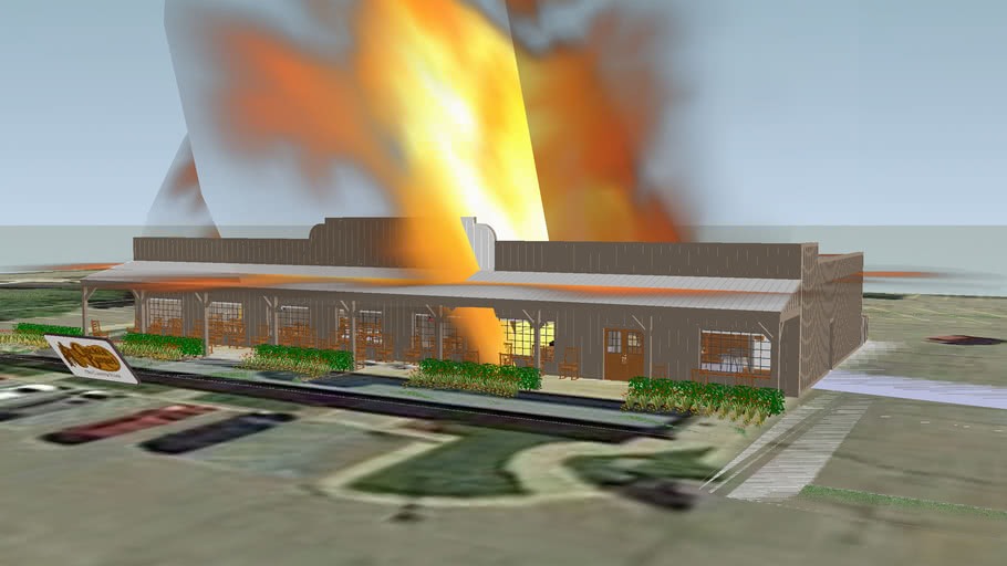 Cracker Barrel in Texas Township Michigan destruction