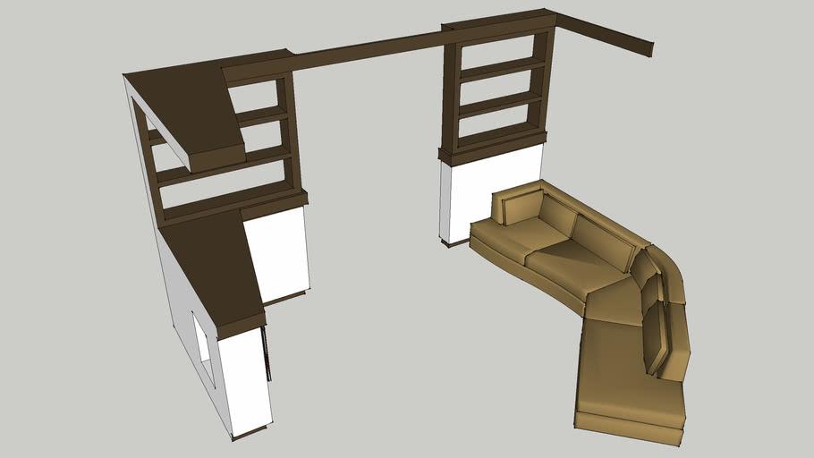 комната с биокамином