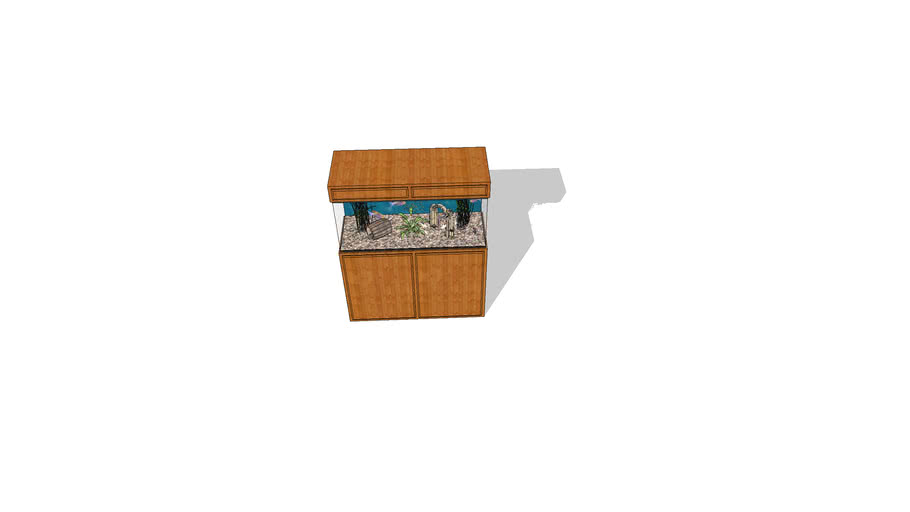 60 Gallon Freshwater aquarium with wood stand