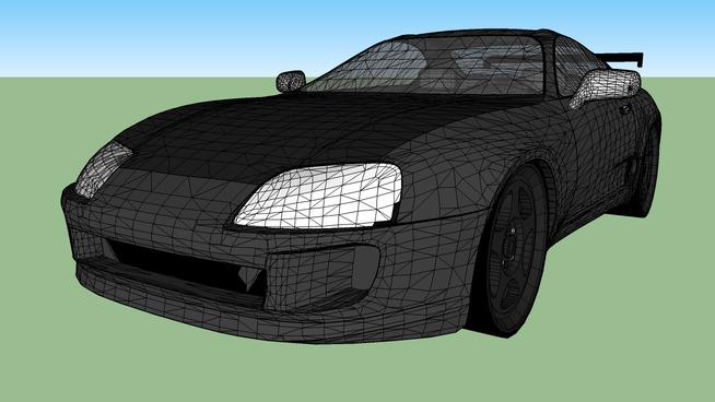 Custom Toyota Supra TT (twin turbo)