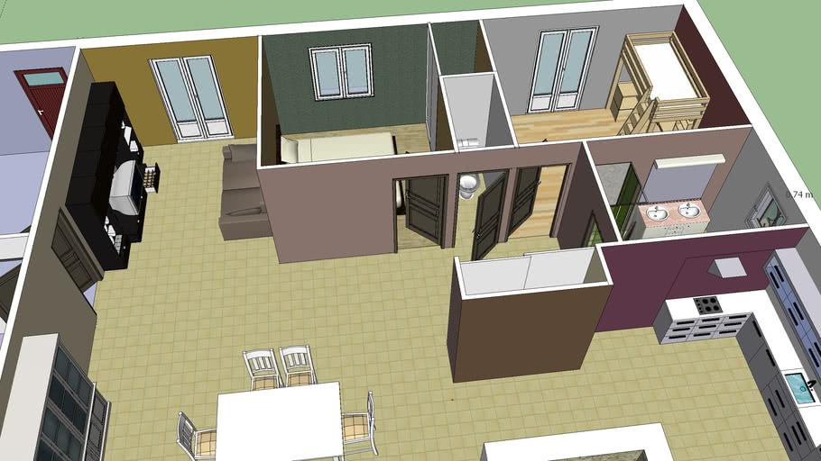modele de maison f3 | 3D Warehouse
