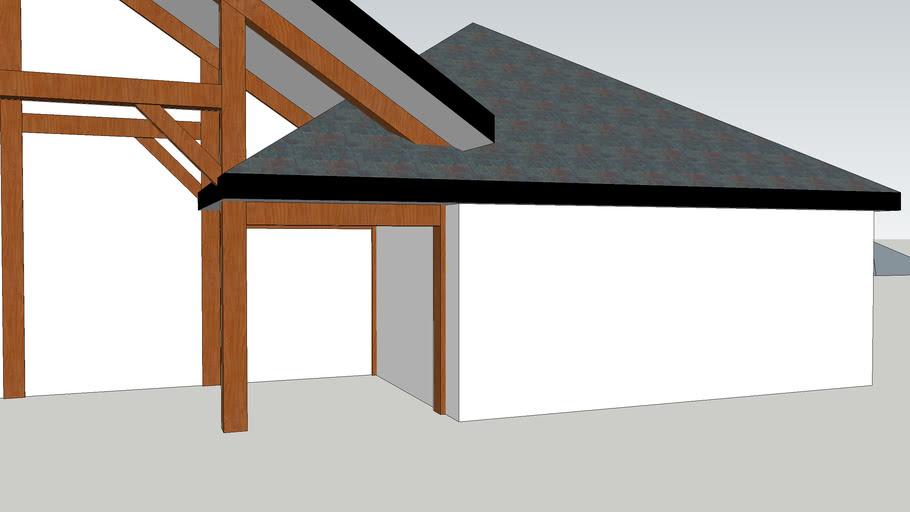 Timber Frame House, work in progress