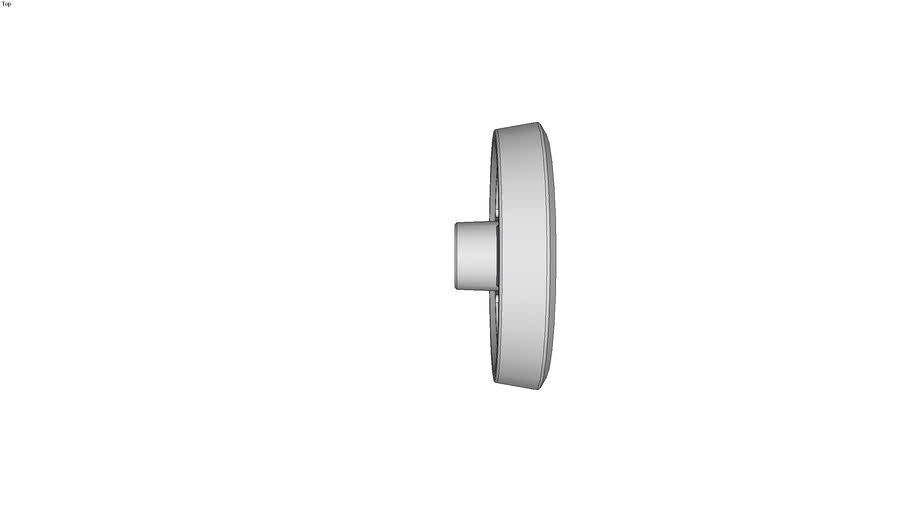 Volant deux bras aluminium pellicul� � poign�e �clipsable - noir - Moyeu rainur�