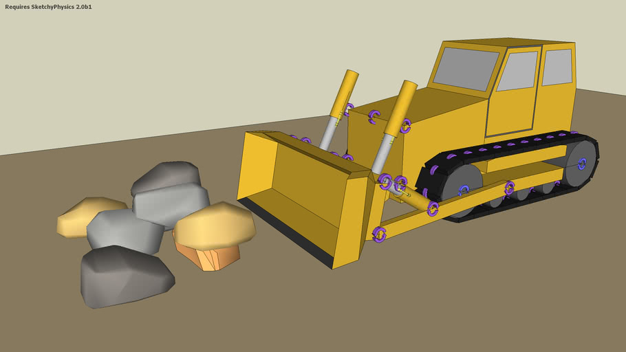 Sketchyphysics Bulldozer