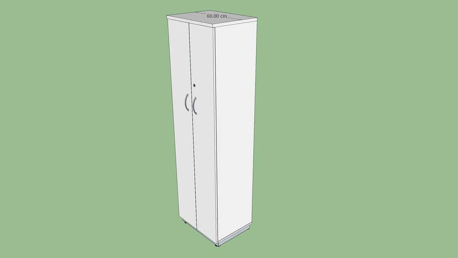 Armário extra alto 60 cm porta de giro