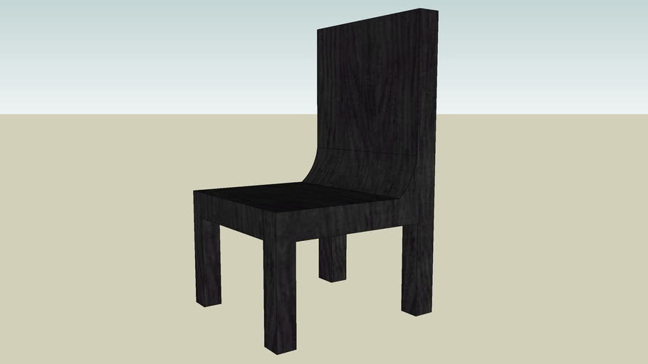 Chair with blaco wood