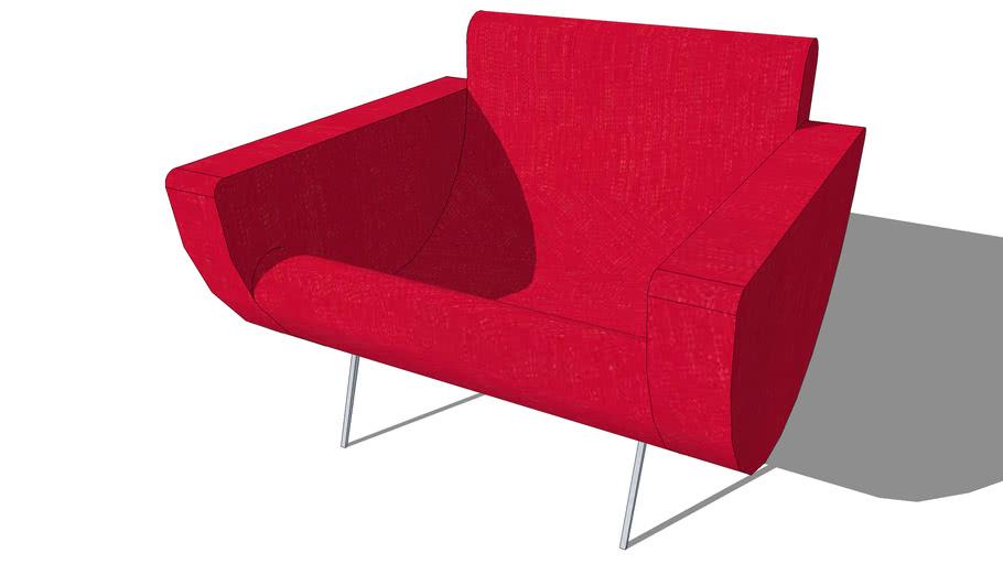 Fauteuil GUARICHE rouge, Maisons du monde. Réf: 133.713 Prix:299€
