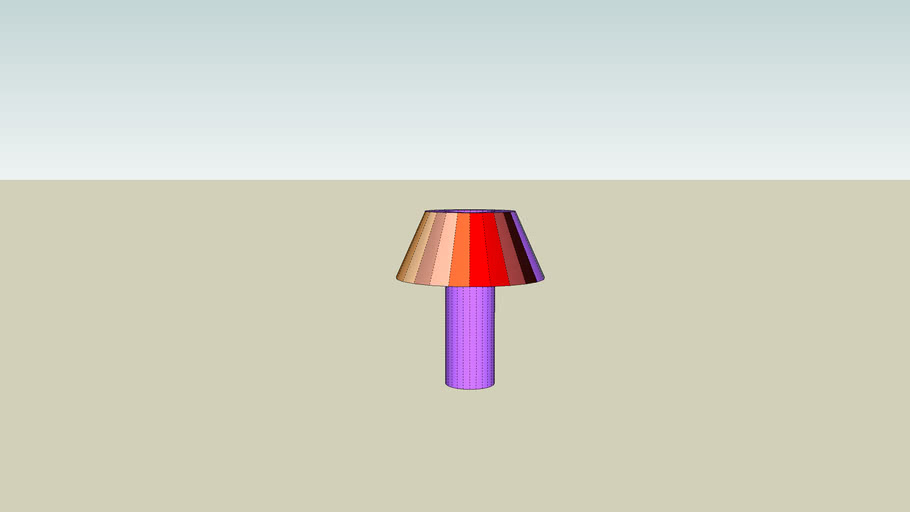 lampe multicolor