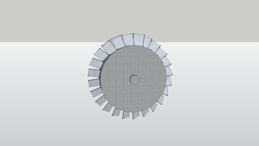 Jet Turbine Fan