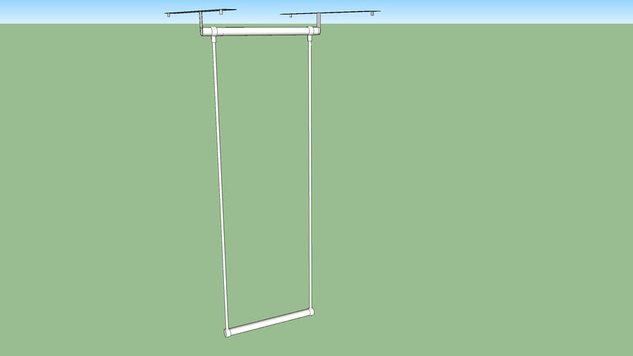 IKEA LÄTTHAT clothes rail outside 35-60 x 55