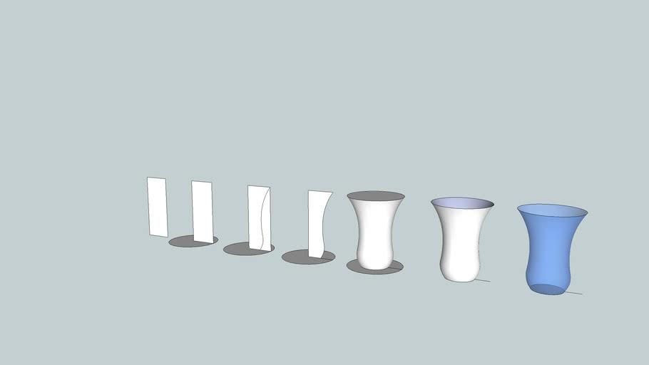 Váza, sklo, postup