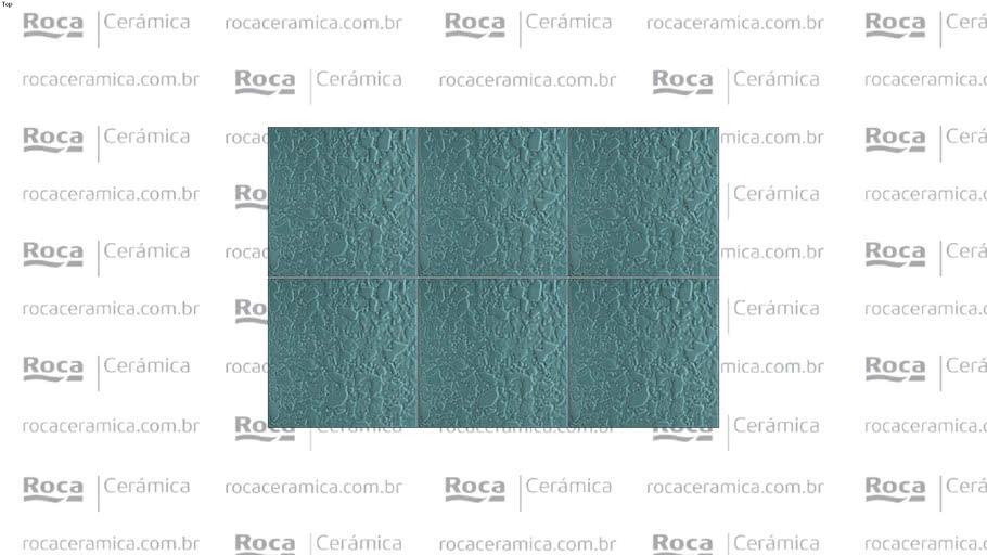 ROCA - PS SEA FLOC AQUAMARINE 20X20
