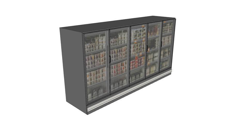 Tall refrigerators for supermarket