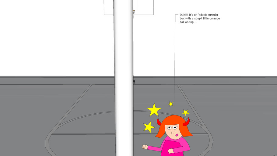 SketchyPhysics - Dorie of the's stupid at basketball. She can't shoot, but can you?