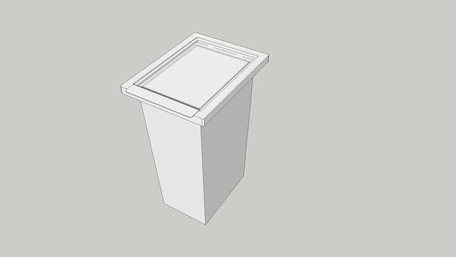 Ikea 28litre Filur white bin