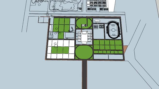 site plan forest college, munger