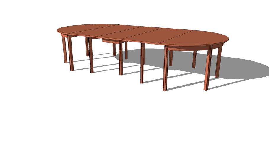 Banquet table in mahogany