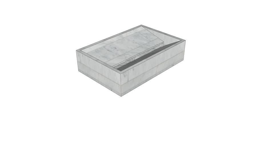 Vasco Marble Countertop Basin  60x40x15 in Bianco Carrara Lithoverde