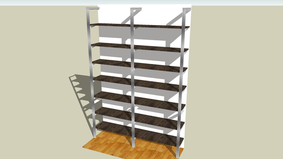 Wall Mounted Bookshelf By Smart Furniture 3d Warehouse