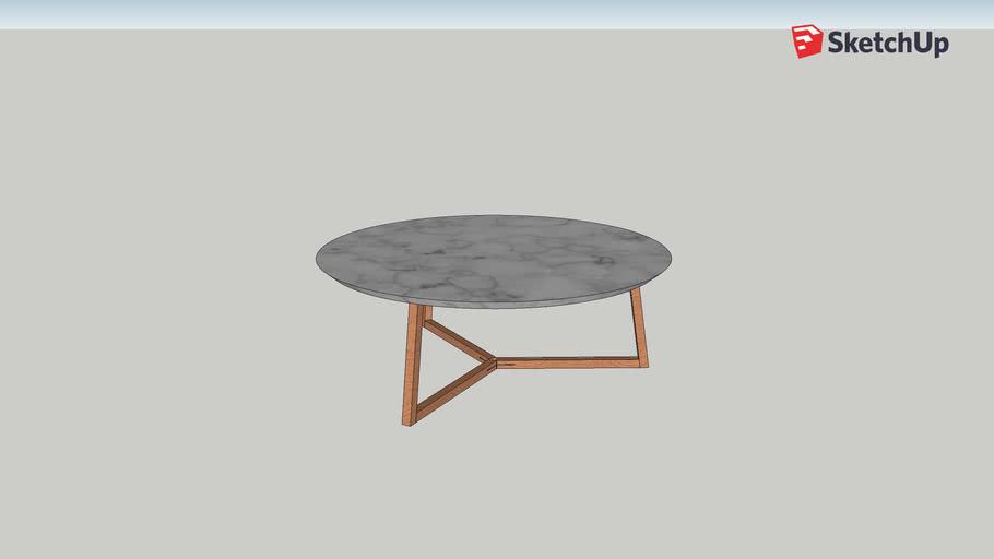 Giulia - Table basse en céramique avec impression marbre - Habitat