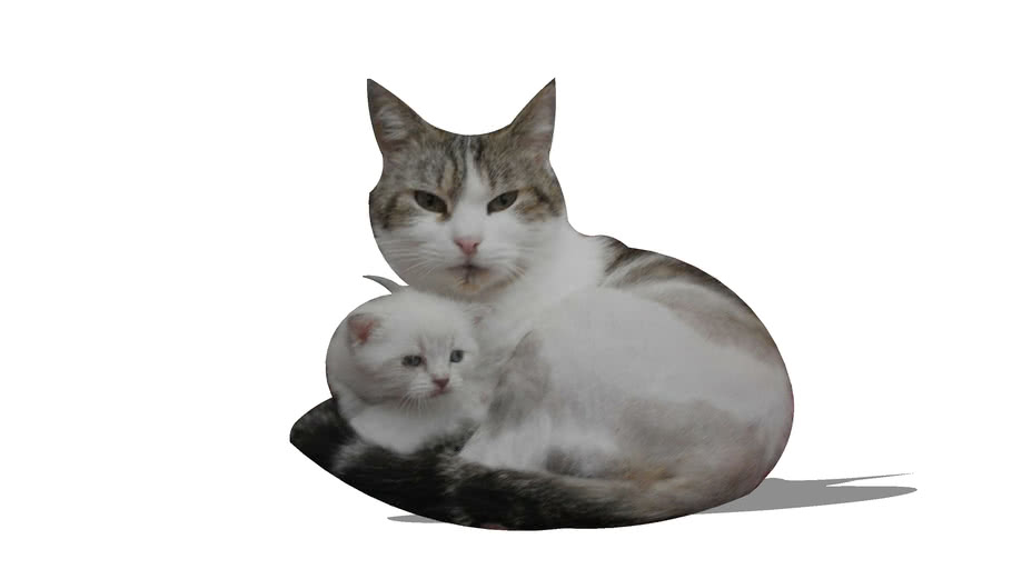 Moumounette and his baby