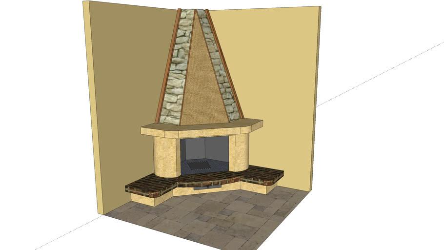 """Camino Classico ad Angolo (Corner Fireplace) """"Progetto Dino"""""""