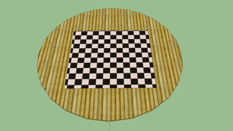 Checkers Table Made By Wood