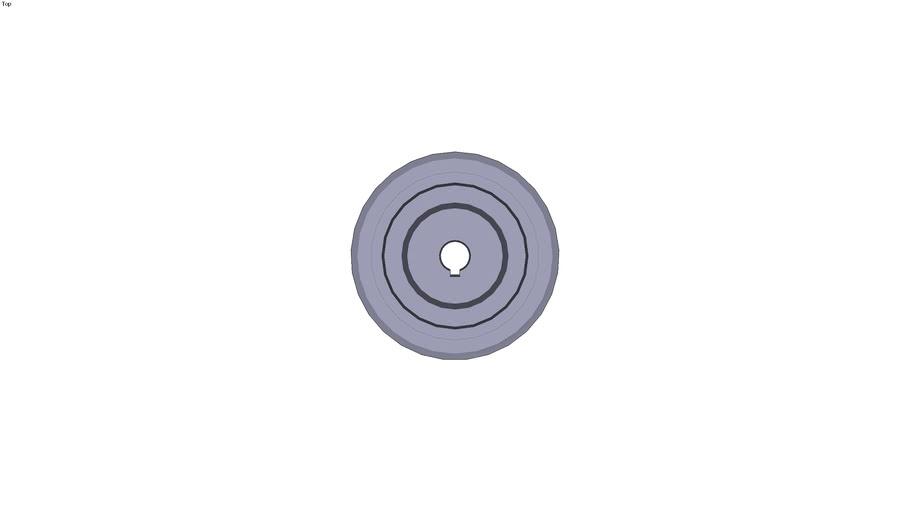 Roue à bandage vulkollan - Pour...Ø 15mm Ø nominal de la roue de 100mm
