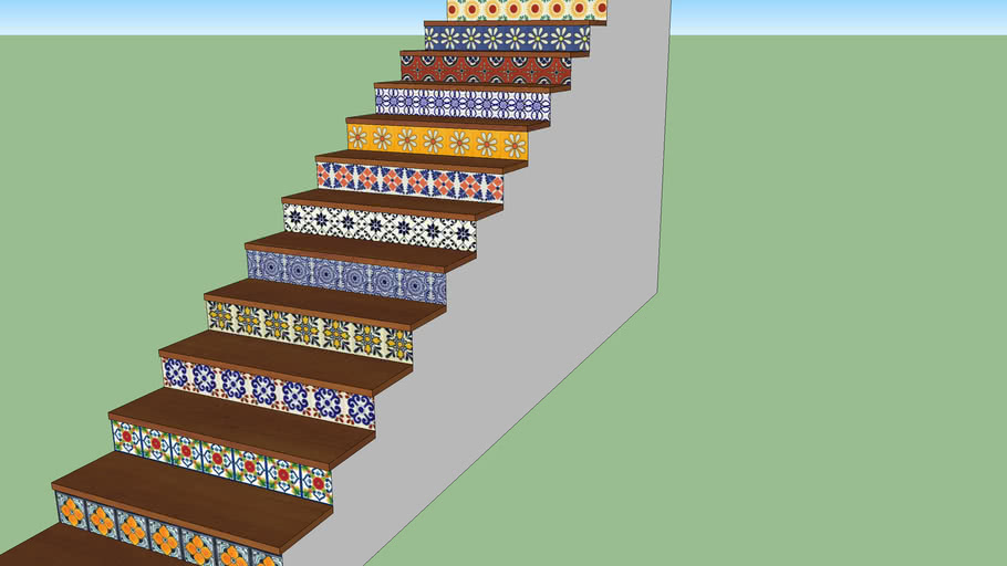 Stairs, mexican talavera
