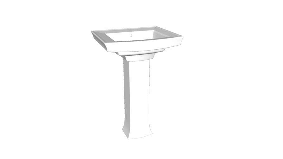"K-2359-8-Archer� Pedestal bathroom sink with 8"" widespread faucet holes"