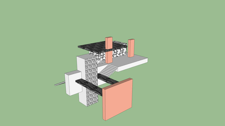 Experiment 2 - The Space Between - Combined Axonometric model