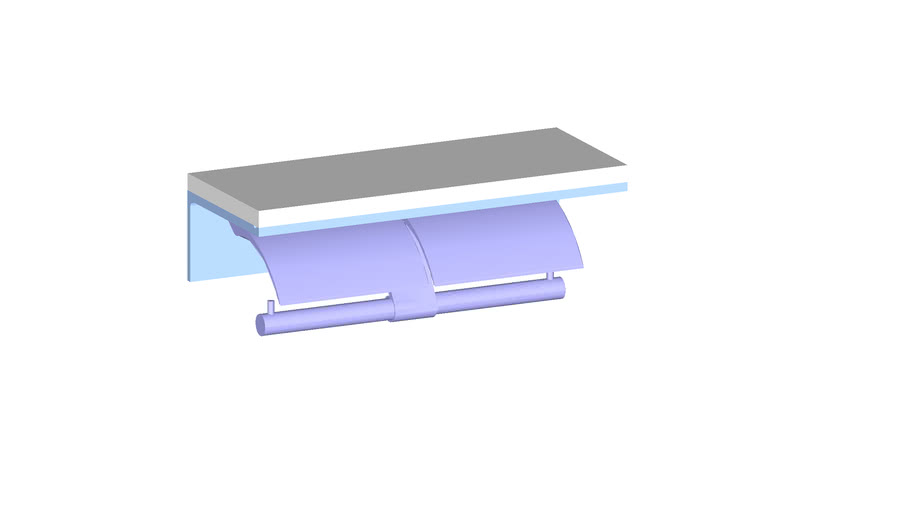JUSTIME Double Toilet Tissue Holder W/Wooden Shelf _7997-42-80CN