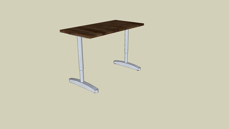 IKEA metal frame desk