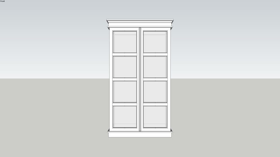 Cabinet with Glassdoor.skp