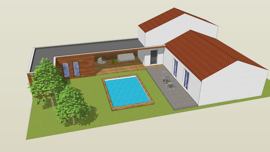Projet D Extension De Maison En Gironde 3d Warehouse