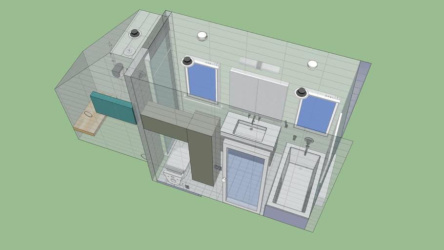Barshad new bathroom with steam