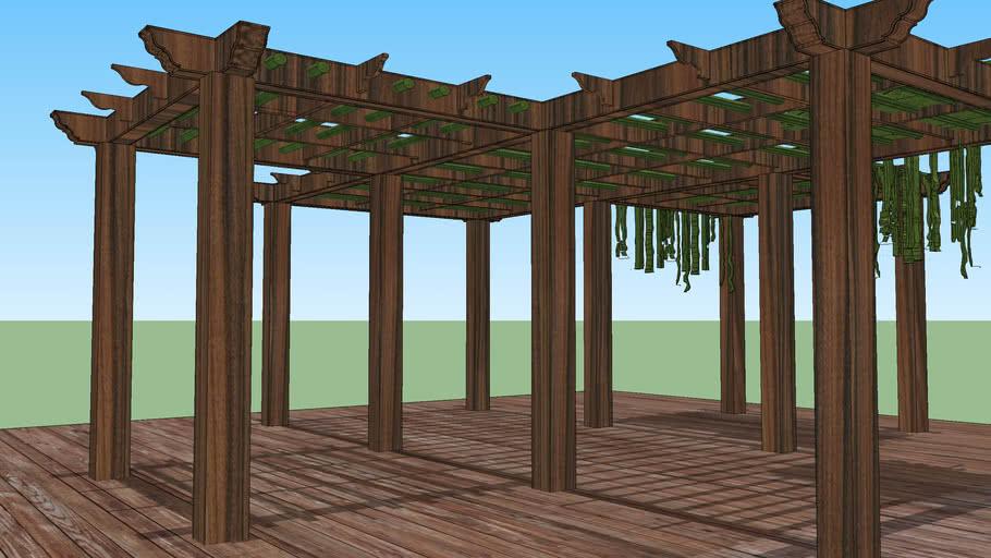 Pergola Madeira Bambu