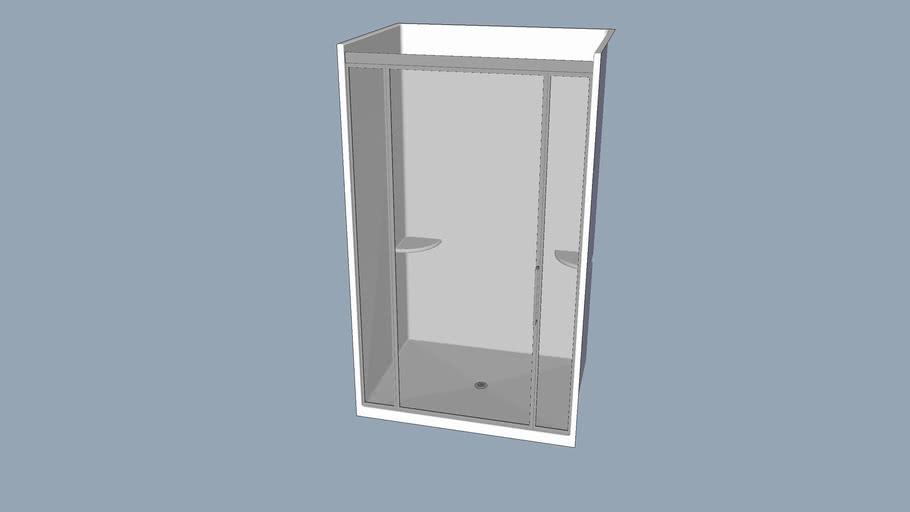 3'x4' Fiberglass Shower Stall