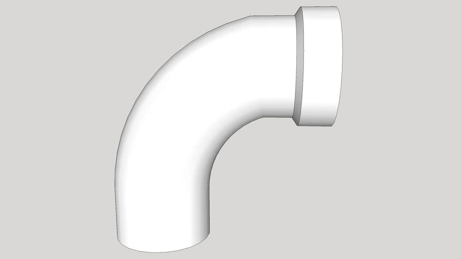Long Sweep 1/4 Bend (90º) PVC - 2 in