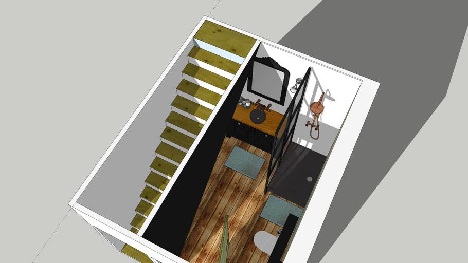 Salle d'eau CNFDI Exercice 2 Sketchup Application T2 Largy L