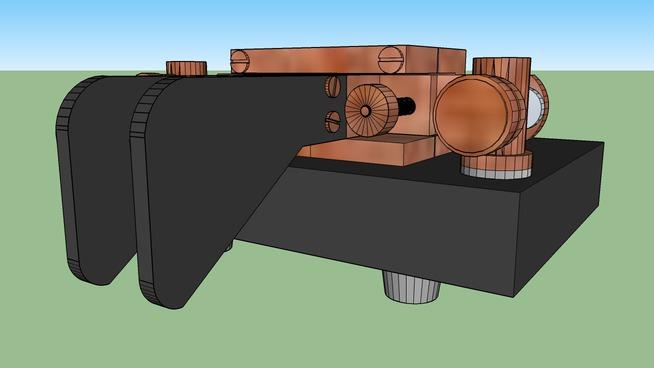 KENT Twin Paddle Morse key   3D Warehouse