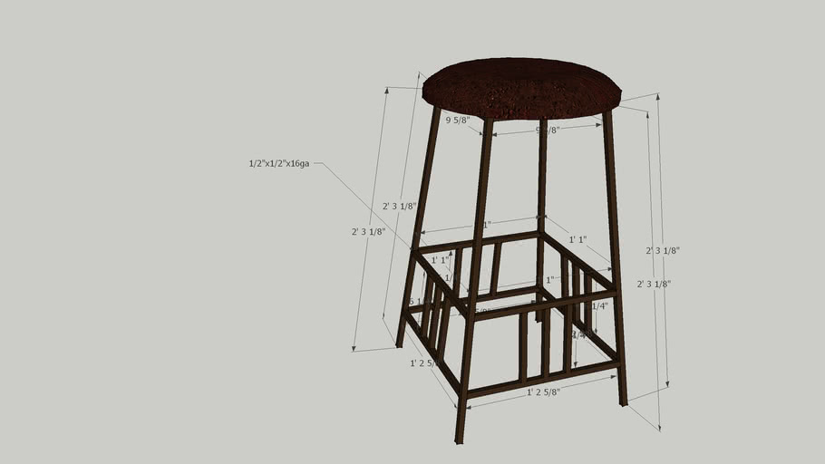 mission style stool