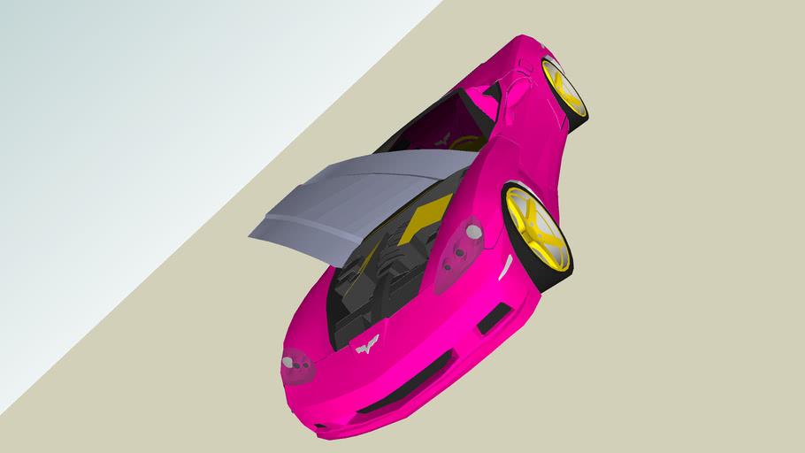 Gloss pink Corvette