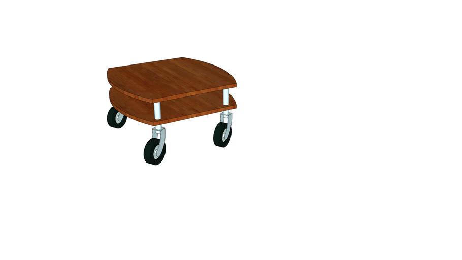 Side table on wheels