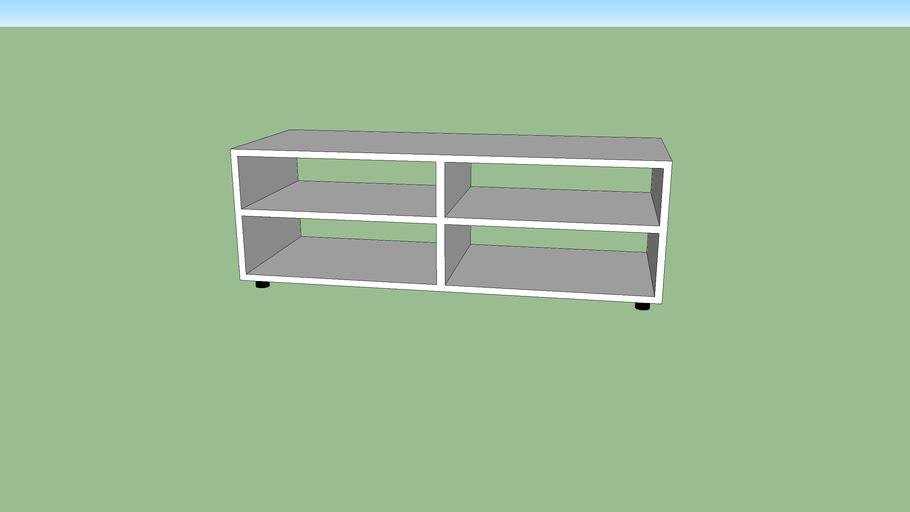 TV Tisch (Lowboard) Weiss